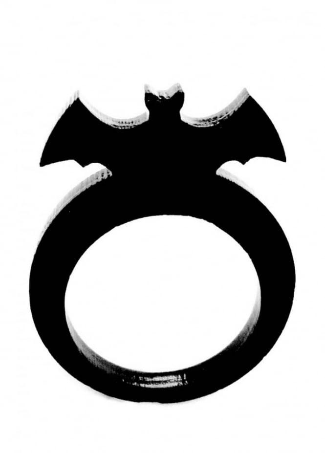 Curiology Black Bat Ring