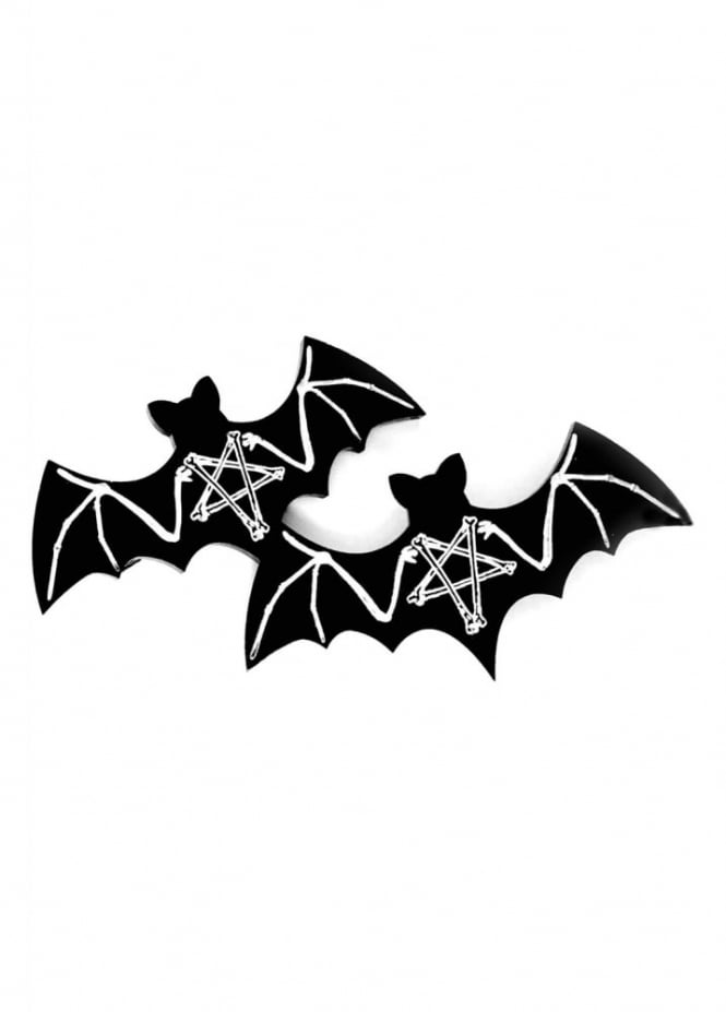 Curiology Black Magic Bat Hair Clips