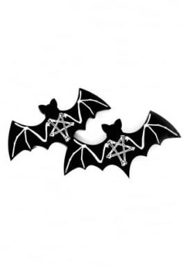 Black Magic Bat Hair Clips