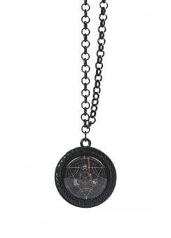 Black Mass Cameo Necklace