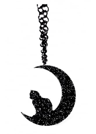 Curiology Cat & Crescent Moon Necklace