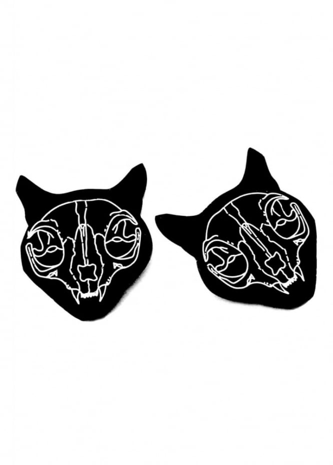 Curiology Cat Skull Hair Clips