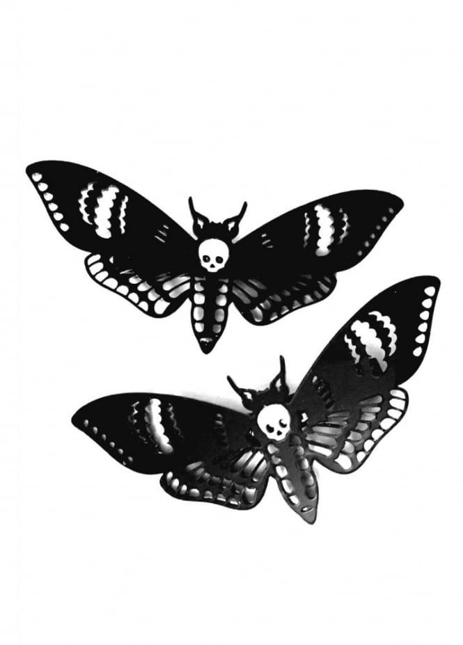 Curiology Deaths Head Moth Hair Clips