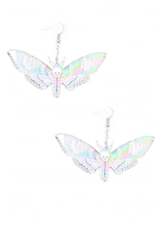 Curiology Iridescent Deaths Head Moth Earrings