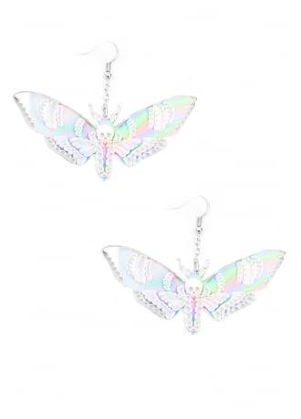 Curiology Iridescent Deaths Head Moth Earrings