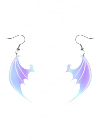 Curiology Iridescent Dragon Wing Earrings