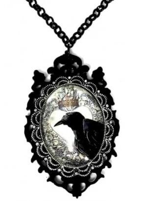 Little Horrors Raven Necklace