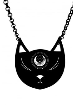 Lunar Kitty Necklace