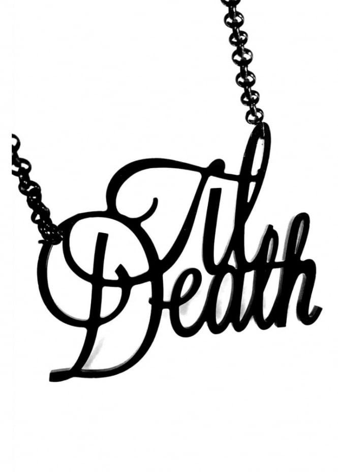 Curiology Til Death Script Necklace