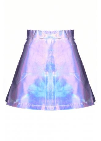 Current Mood Lil' Spacey Holographic Circle Skirt