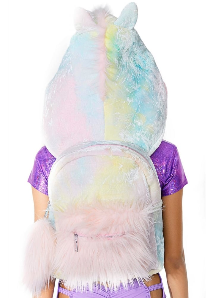 e695dad2 Sugar Thrillz Part Time Unicorn Hooded Backpack | Attitude Clothing