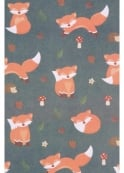 Cute Fox Wrapping Paper & Tag