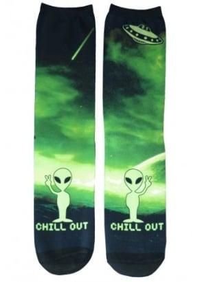 Alien Chill Out Socks