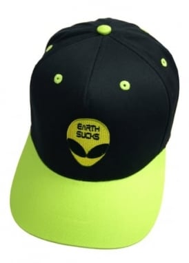 Alien Earth Sucks Snapback Cap