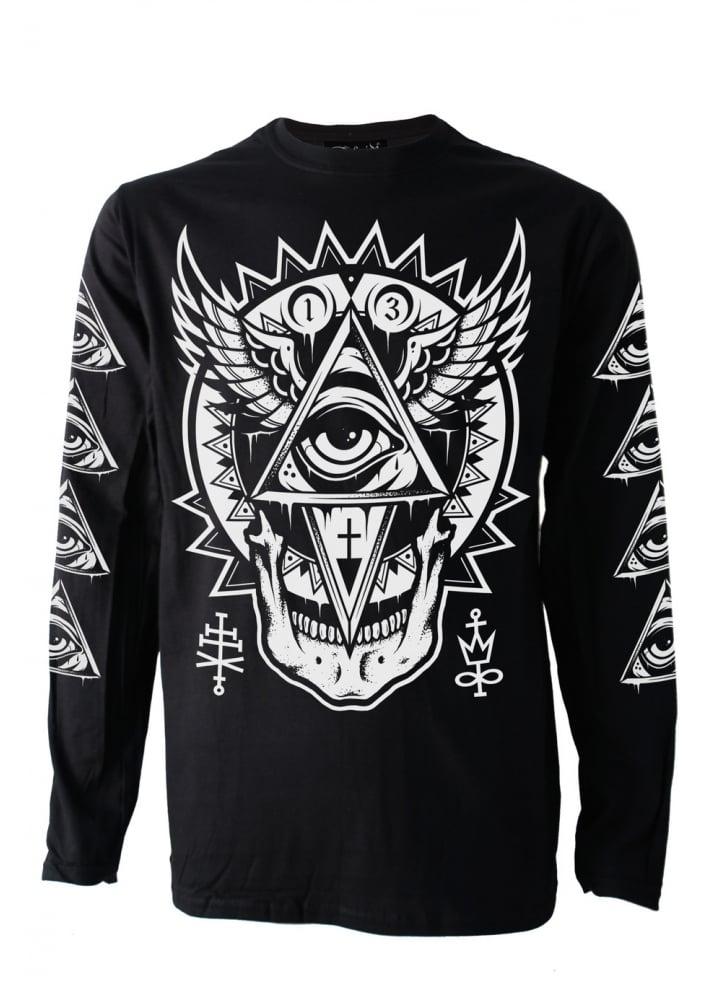 Darkside Clothing All Seeing Eye Long Sleeve T Shirt