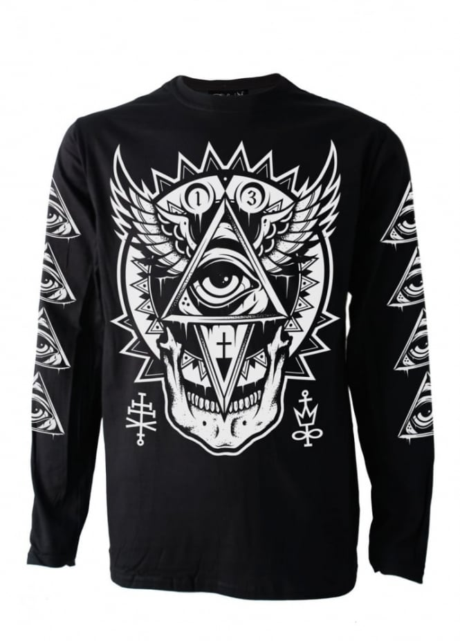 Darkside Clothing All Seeing Eye Long Sleeve T-Shirt