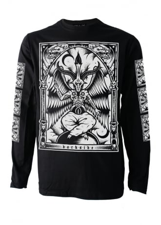 Darkside Clothing Baphomet Long Sleeve T-Shirt