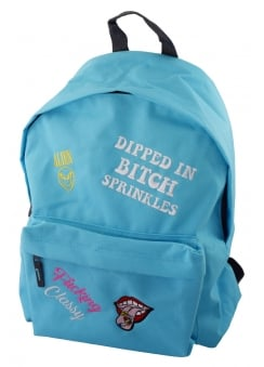 Bitch Sprinkles Multipatch Embroidered Backpack