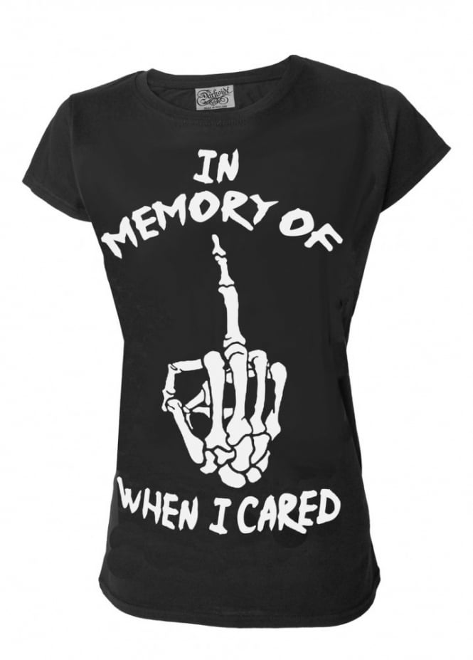 Darkside Clothing In Memory Of When I Cared T-Shirt