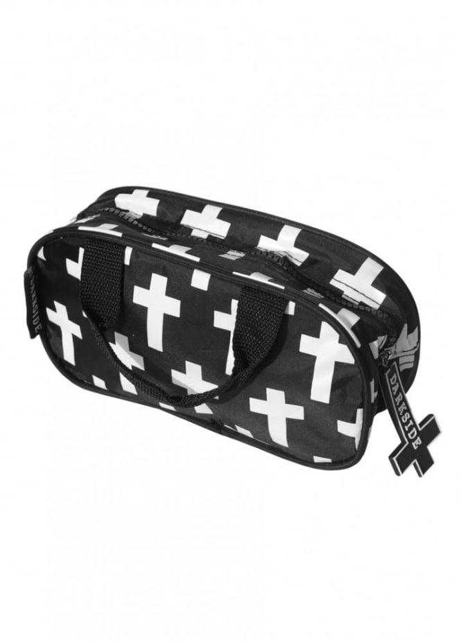 Darkside Clothing Inverted Cross Toiletry Bag