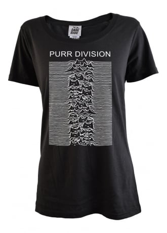 Darkside Clothing Purr Division Scoop Neck Tee