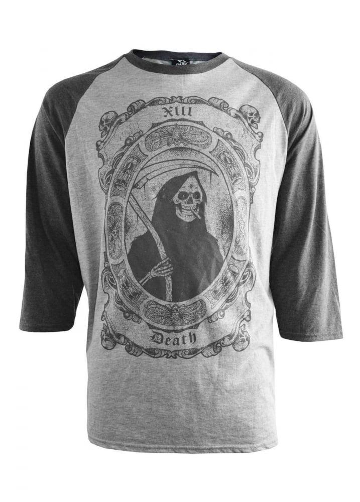 Darkside Smoking Reaper Raglan T Shirt Attitude Clothing