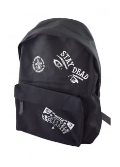 Stay Dead Mulitpatch Embroidered Backpack