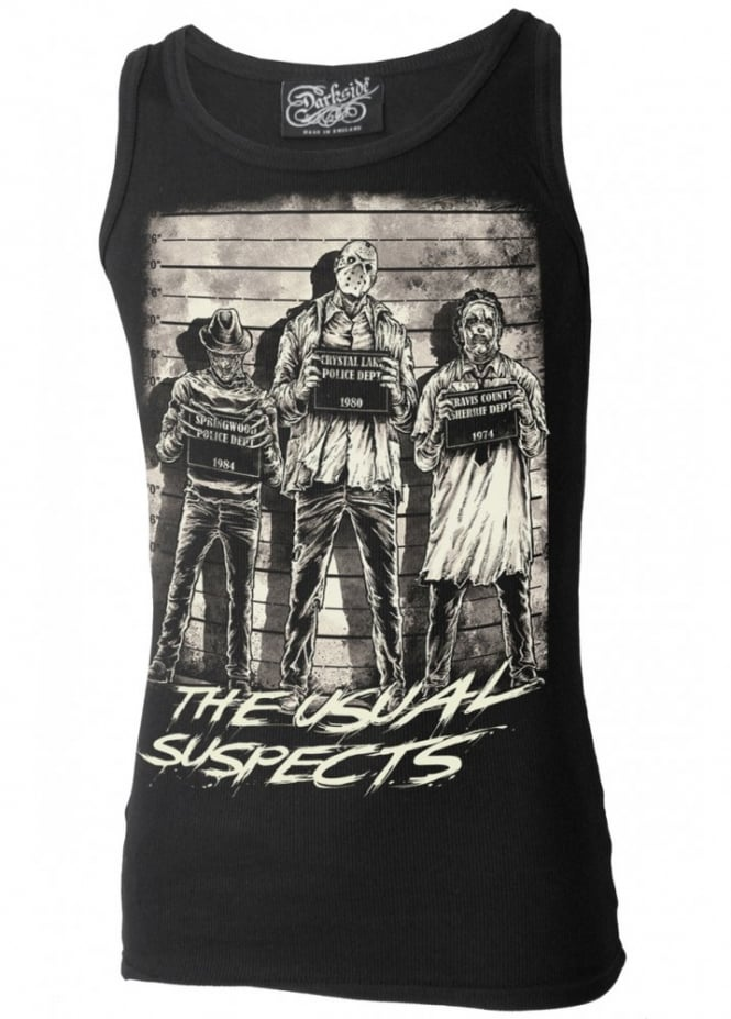 Darkside Clothing The Usual Horror Suspects Beater Vest