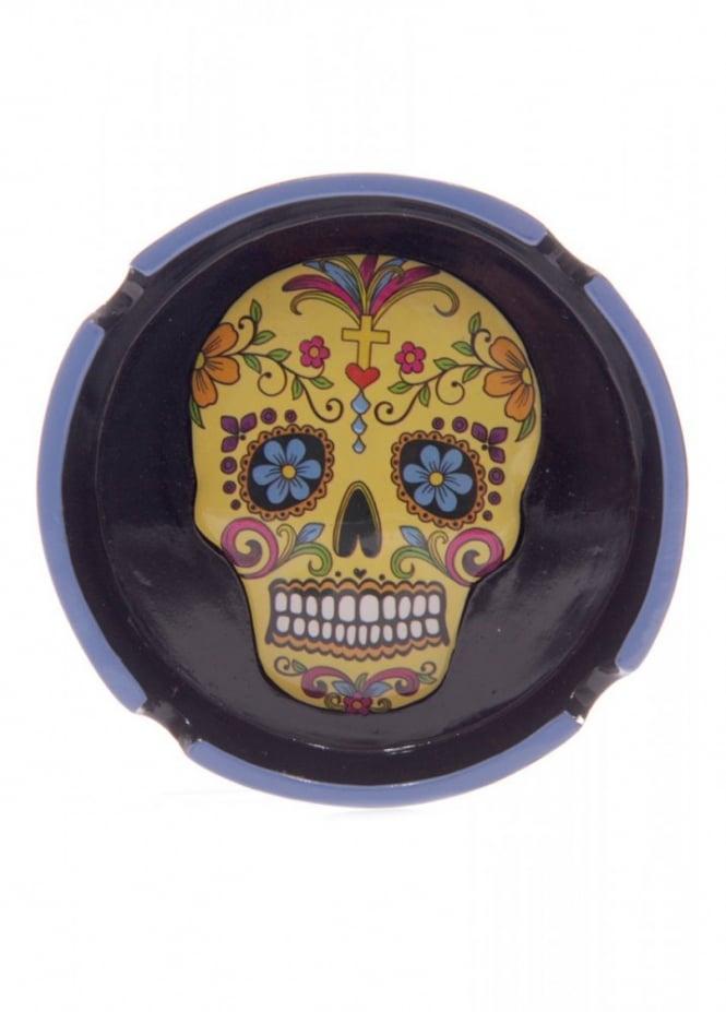 Day Of The Dead Skull Ashtray