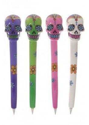 Day Of The Dead Skull Pen