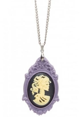 Dead Lady Cameo Necklace