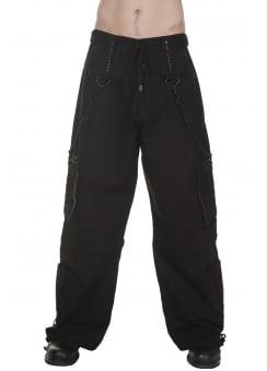 Black Stud & Chain Pants