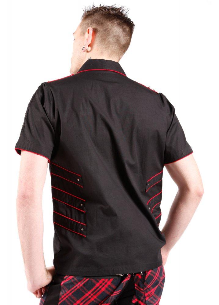 Dead threads military stud shirt attitude clothing for Dress shirt studs uk