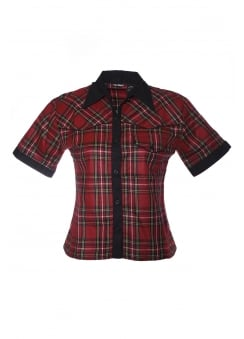 Nancy Tartan Punk Shirt