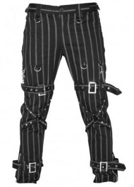 Pinstripe Strap Pants