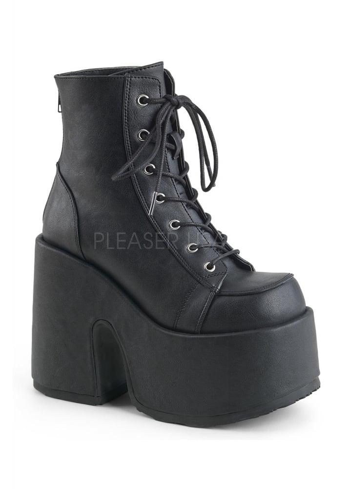 27c8cc2d5817 Demonia Camel 203 Platform Ankle Boot