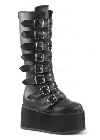 Demonia Damned 318 Knee High Platform Boot