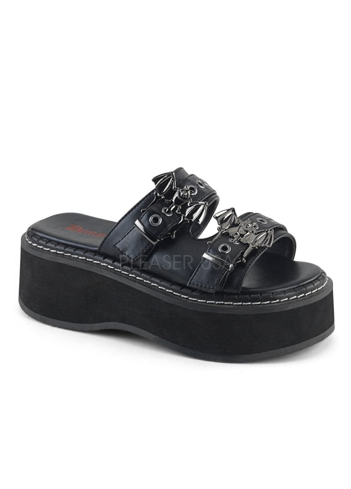 d9e464ffacc2 Demonia Emily 100 Gothic Slide Sandal