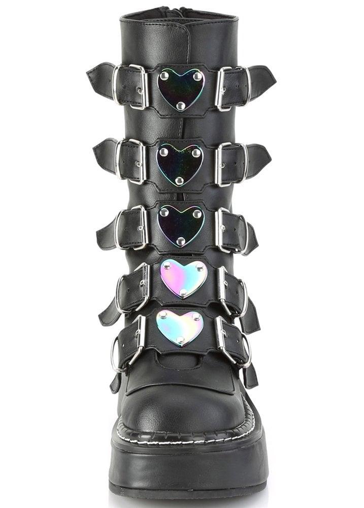 Demonia Emily 330 Heart Buckle Boot
