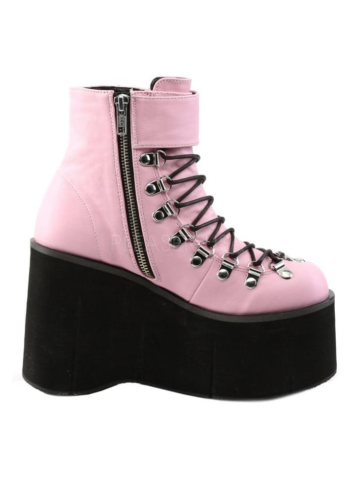 Demonia KERA-21 B. Pink Vegan Leather UK 7 (EU 40) Rlb4MgGE