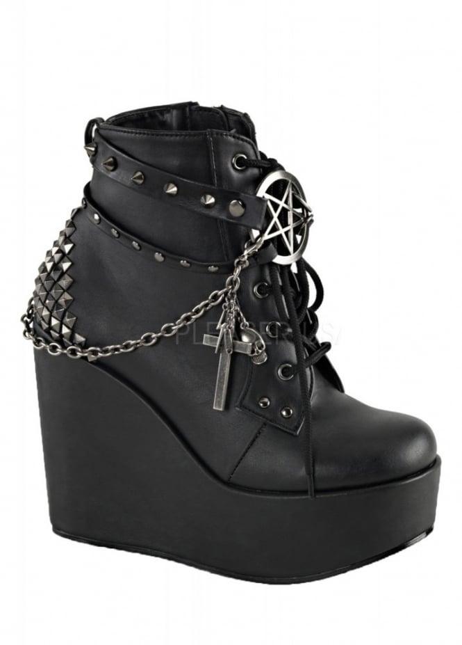 Demonia Poison 101 Wedge Boot Attitude Clothing
