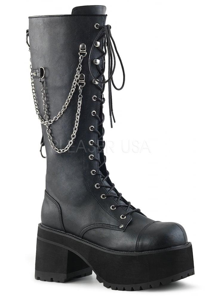 d82577c4d9e Demonia Ranger 303 Gothic Knee High Platform Boot