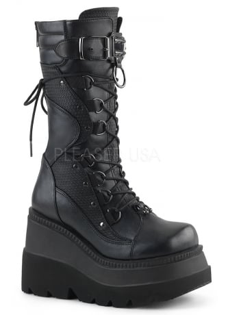 Demonia Shaker 70 Gothic Wedge Boot