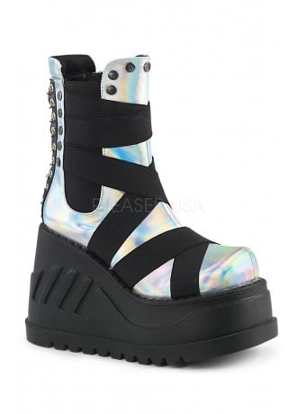 Demonia Stomp 25 Holographic Wedge Platform