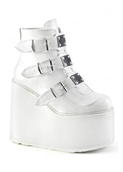 Swing 105 White Wedge Platform Boot