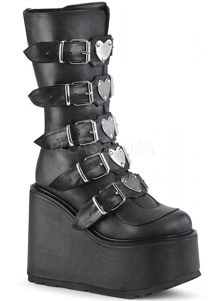 0a92561235c6d Demonia Swing 230 Black Heart Platform Boot