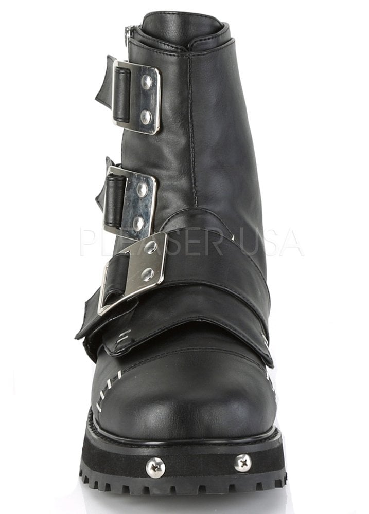 quality design new list undefeated x Demonia Valor 150 Gothic Buckle Boot | Attitude Clothing