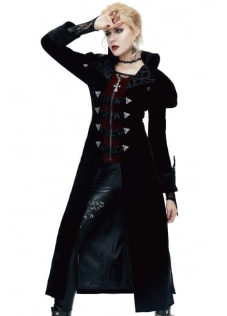 Devil Fashion Adrianna Velvet Coat
