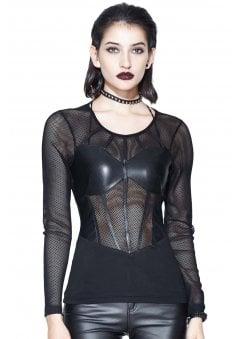 Barb Gothic Mesh Top
