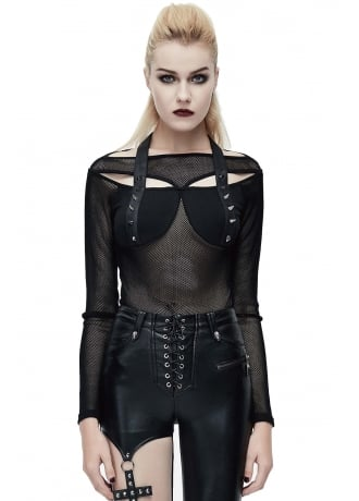 Devil Fashion Draconia Punk Net Top